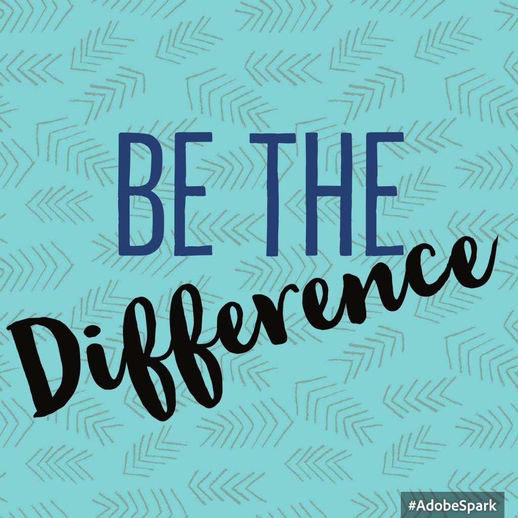 Be the Difference this year.