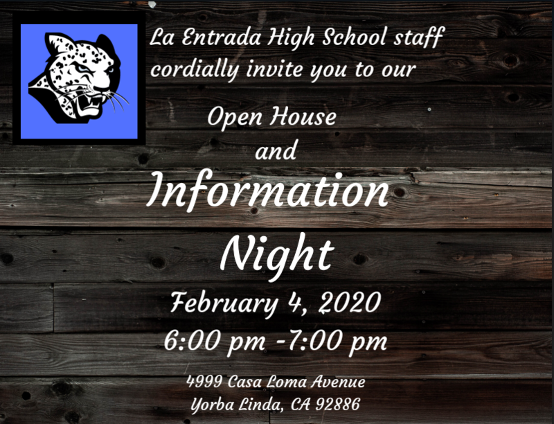 Open House & Info Night