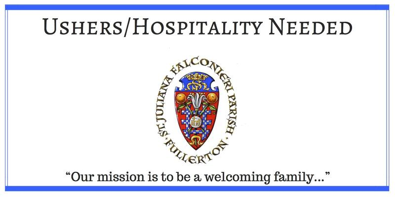 Ushers / Hospitality Needed Featured Photo