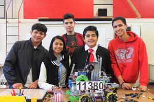 Morningside High School's Golden Path Robotics team is preparing for regional competition next month and students continue to work hard on their robot, The Unicorn!