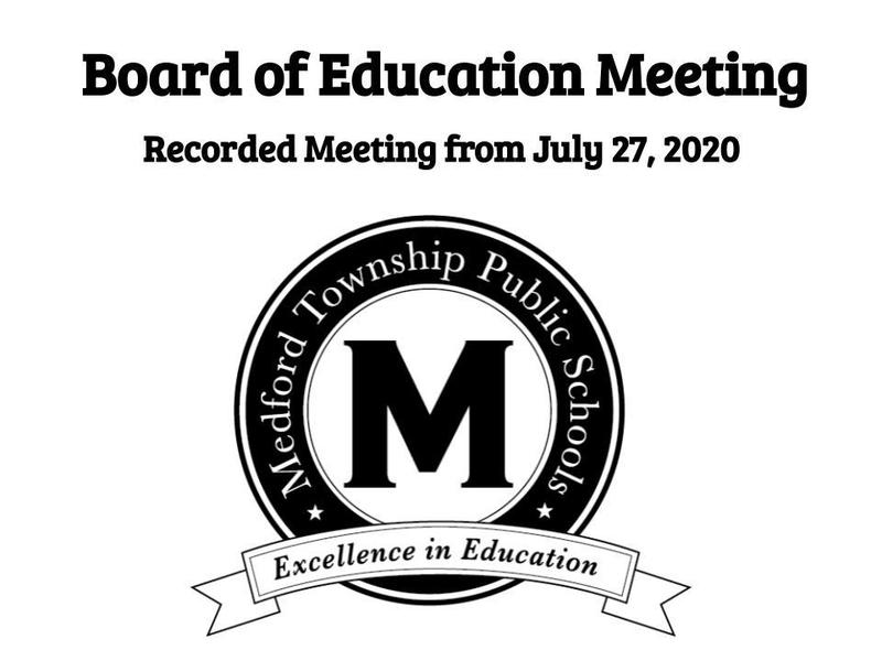 Image for July 27 Board of Education Meeting Recording