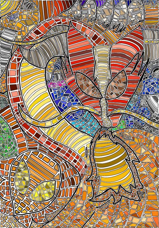 Colorful mosaic artwork