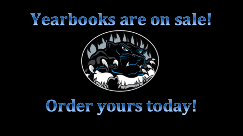 Yearbooks on sale.