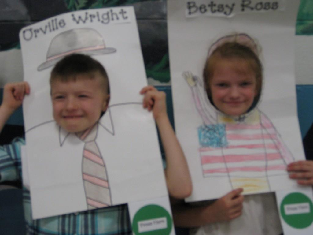 Wax Museum-Orville Wright and Betsy Ross