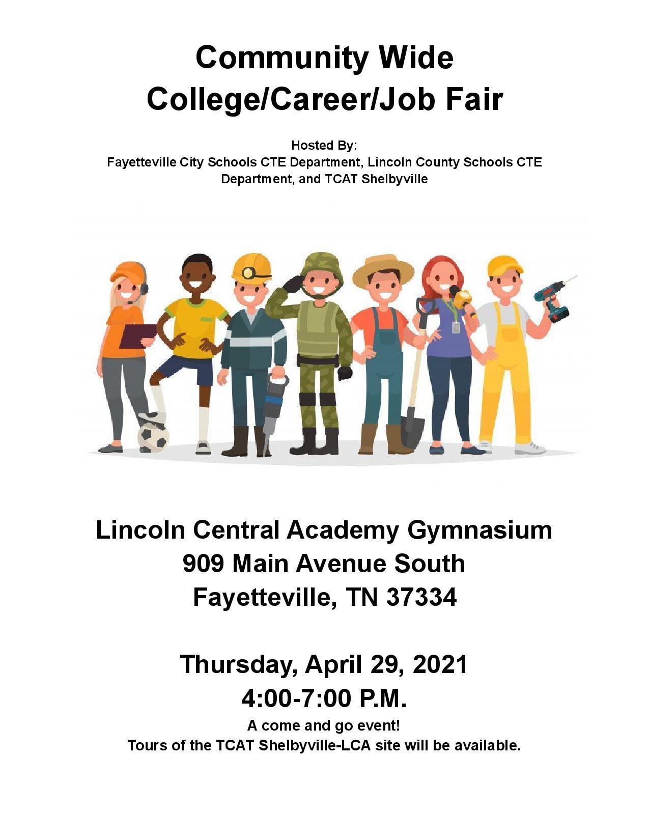 Community Wide College & Career Fair April 29, 2021
