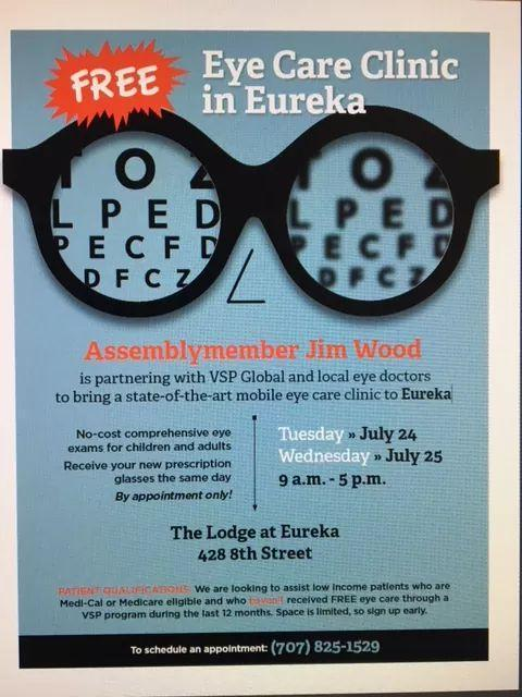 poster for free eye clinic