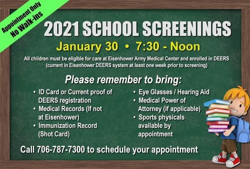 Ft. Gordon 2021 School Screening