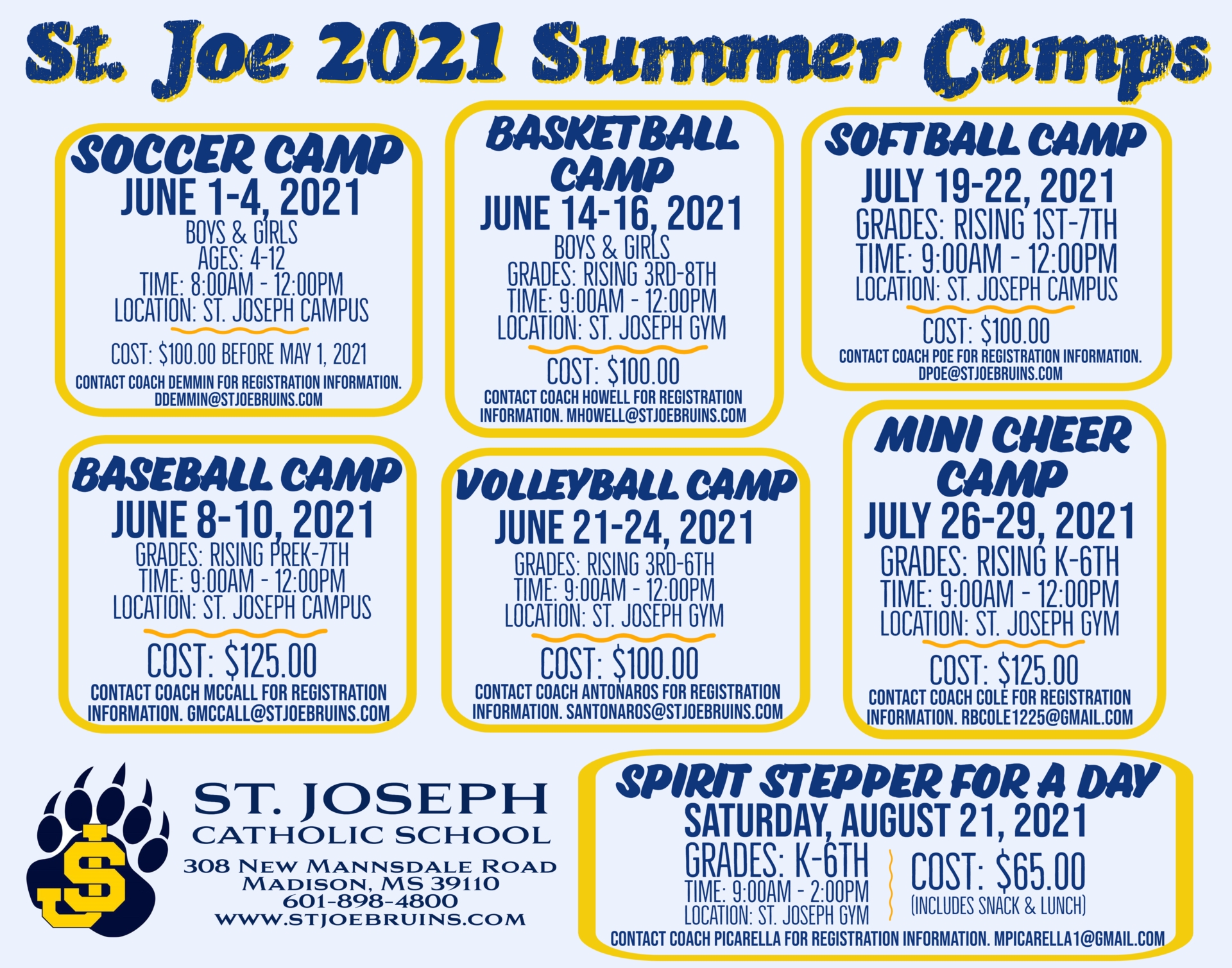 list of summer camps