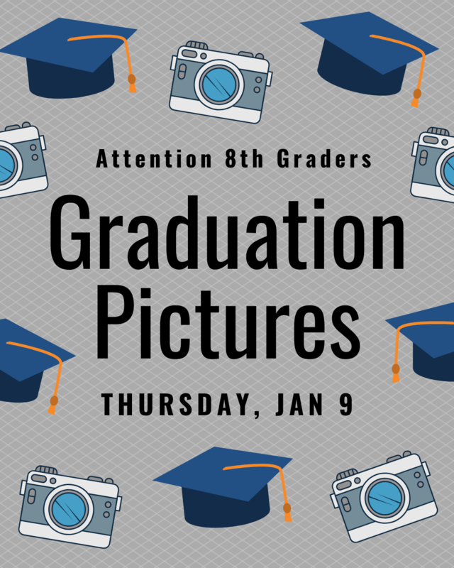 Graduation Pictures Thursday Jan 9th
