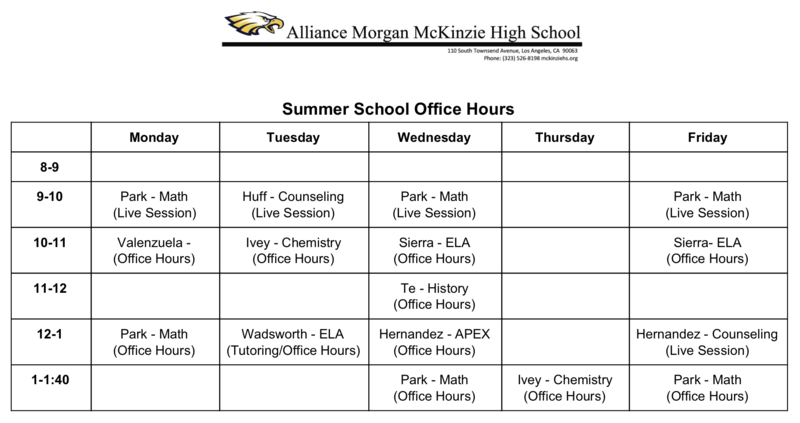 Summer School Office Hours Thumbnail Image