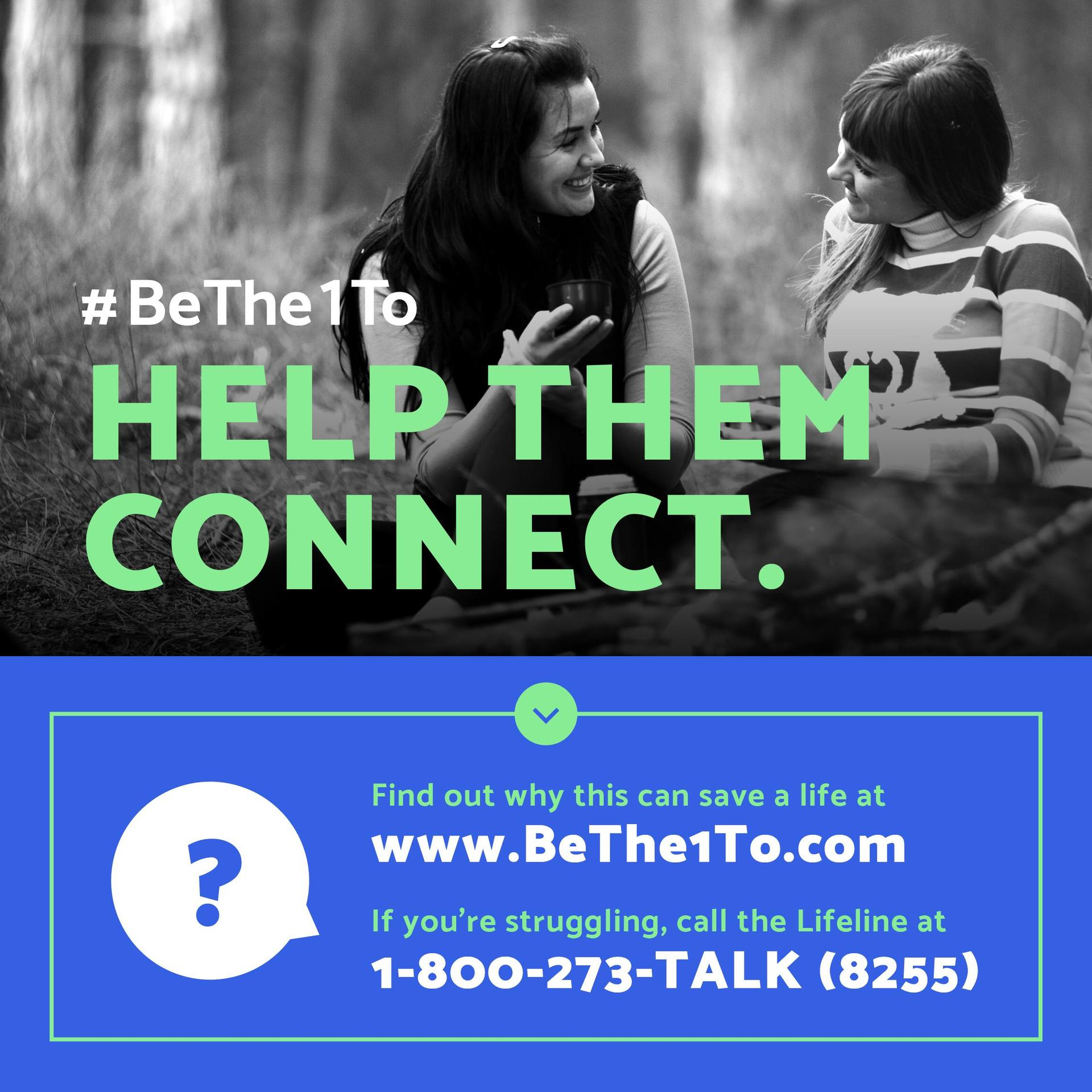 Be the one to help them connect