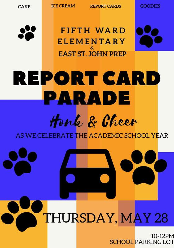 Report Card Parade Thursday, May 28 Thumbnail Image