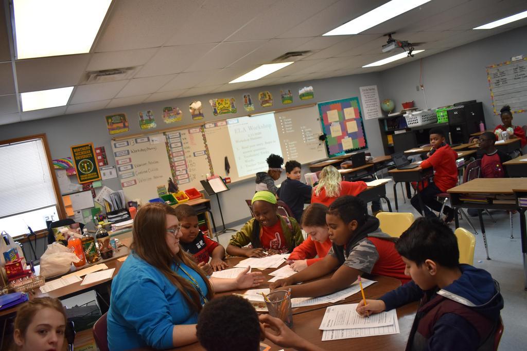 5th Grade hard at work