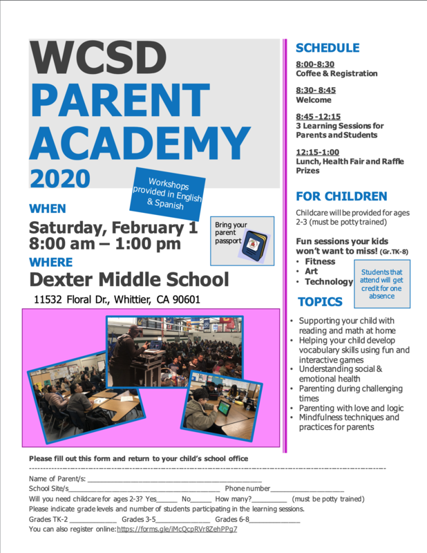 Please join us for our upcoming Parent Academy.