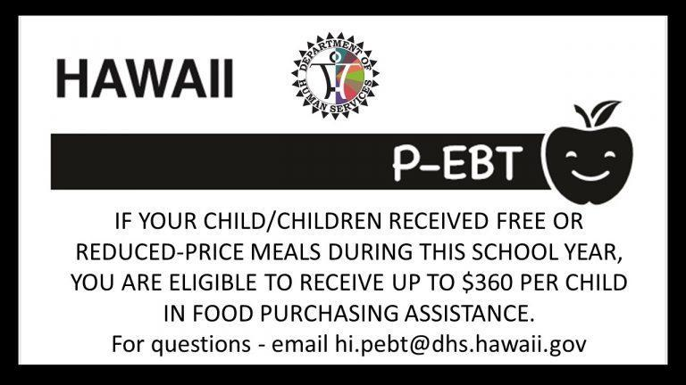 Food Purchase Assistance (P-EBT)