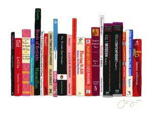 Standing Books Graphic