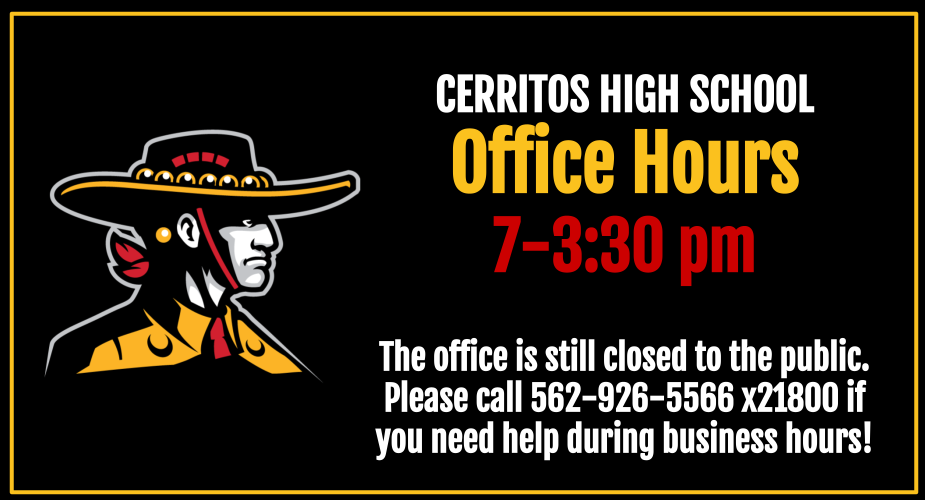 office hours to 7-3:30 M-F