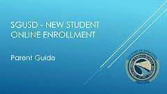 Parent Tutorial for New Student Online Enrollment