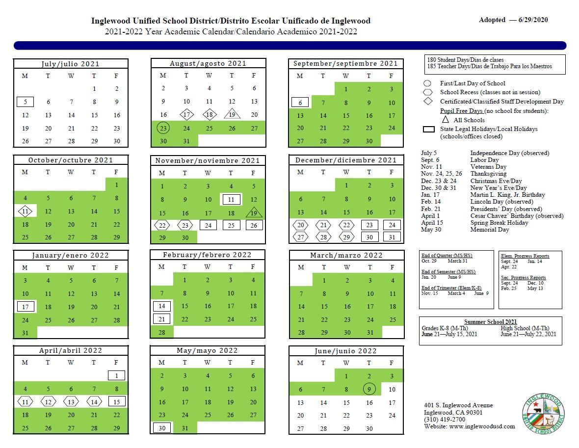 20 21 School Calendar