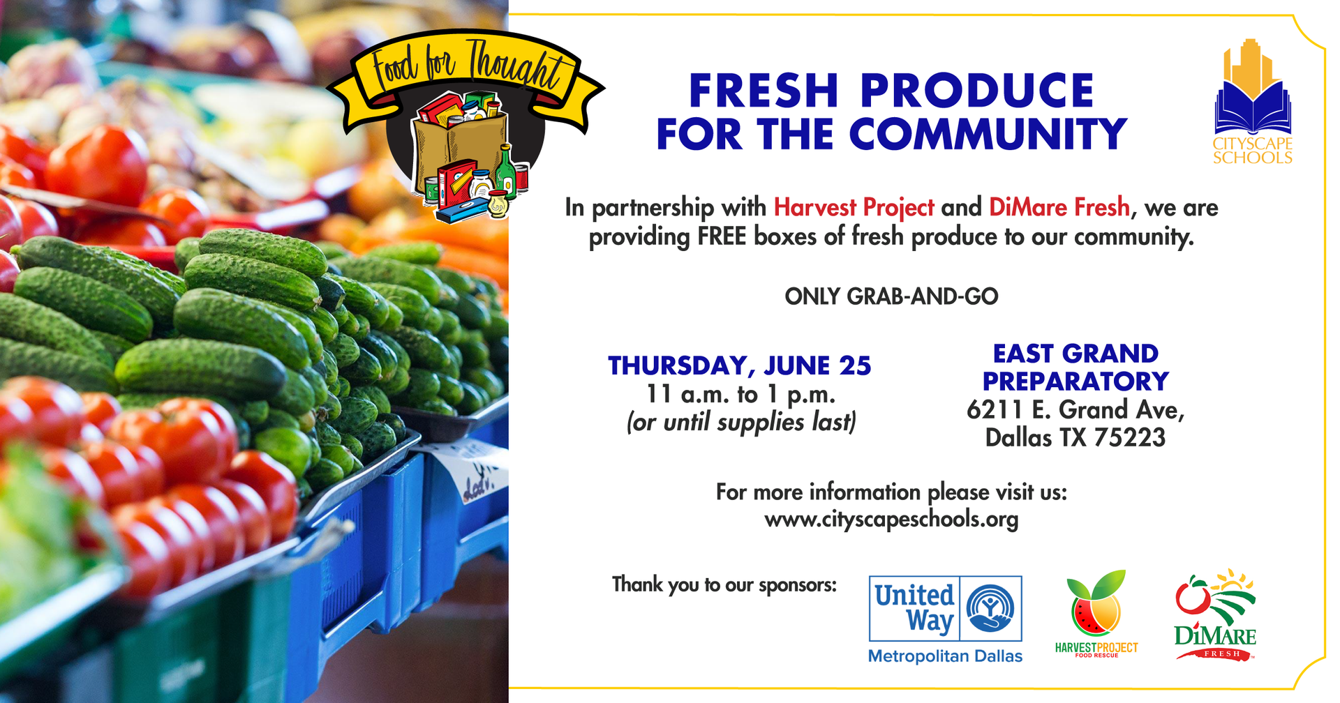 Free meals fresh product