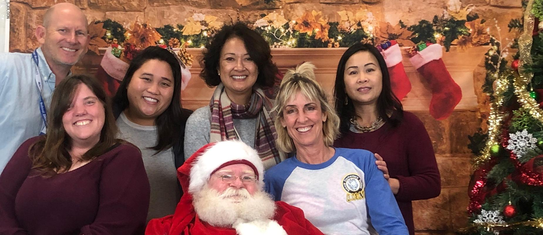 Santa with Schmitt teachers