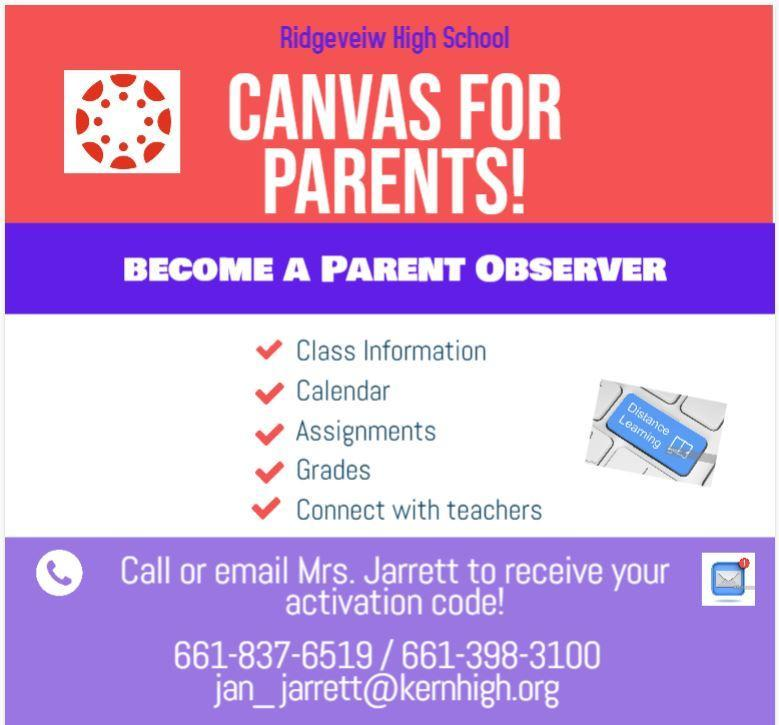Canvas Activation for Parents