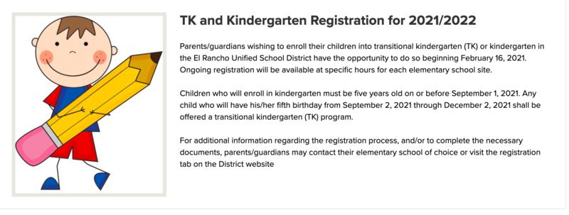 TK Kinder registration