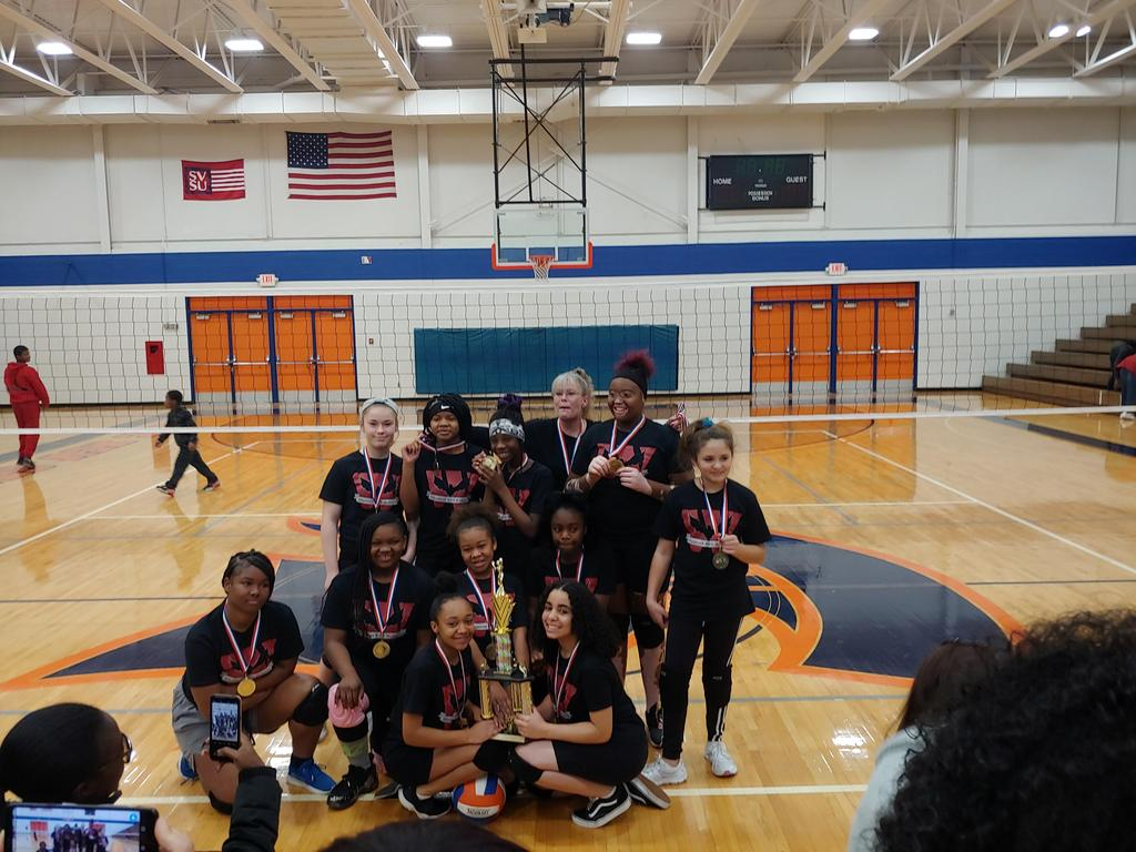Photo of 2019 Girls Volleyball League Champs!