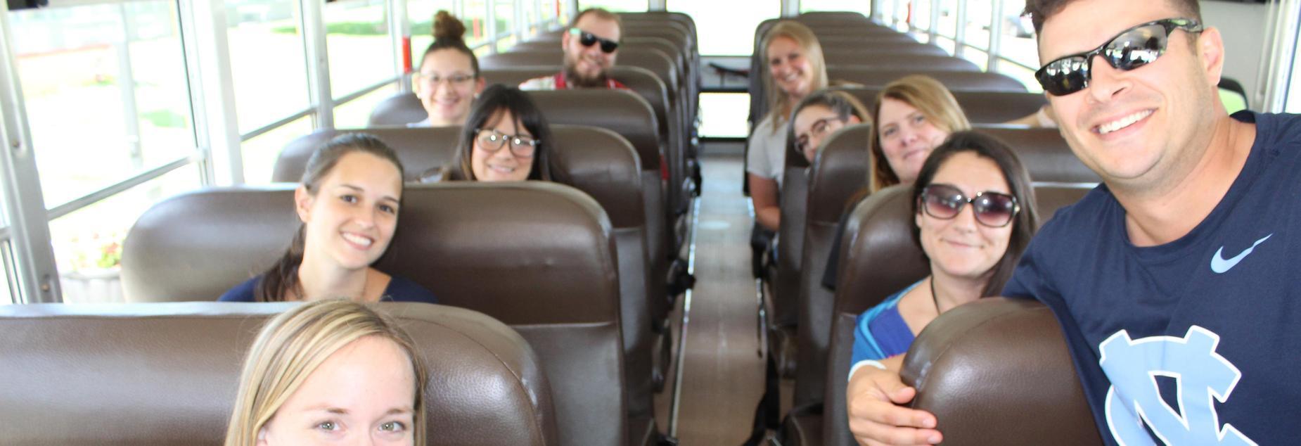 new staff bus ride