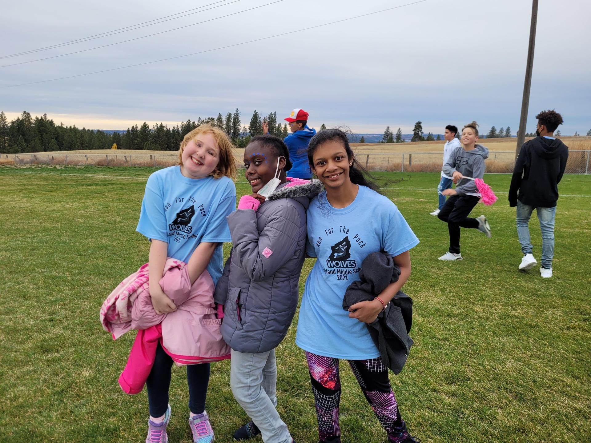 Highland Middle School students at Fund Run celebration