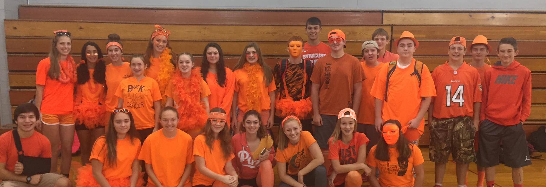 Sophomores during Spirit Week, 2017- group picture