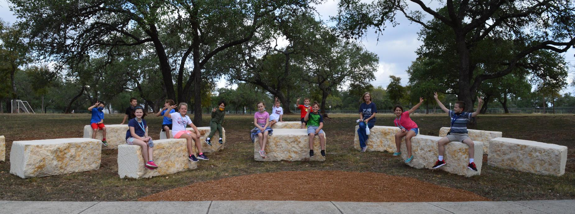 3RD GRADE LOVES THE NEW OUTDOOR CLASSROOM