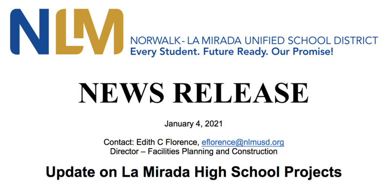 Update on La Mirada High School Projects Featured Photo