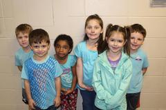 kids in blue