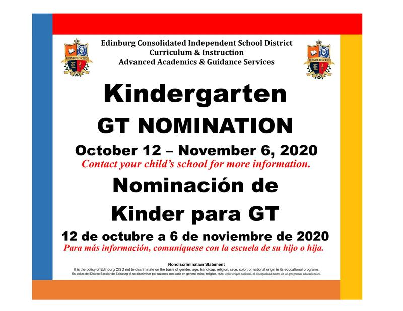 dates for GT Nominations