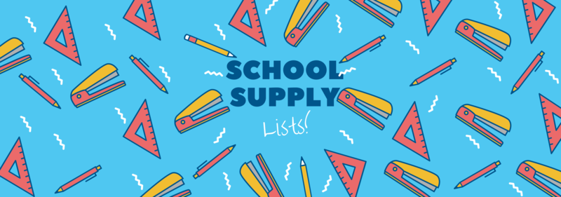 School Supply list!