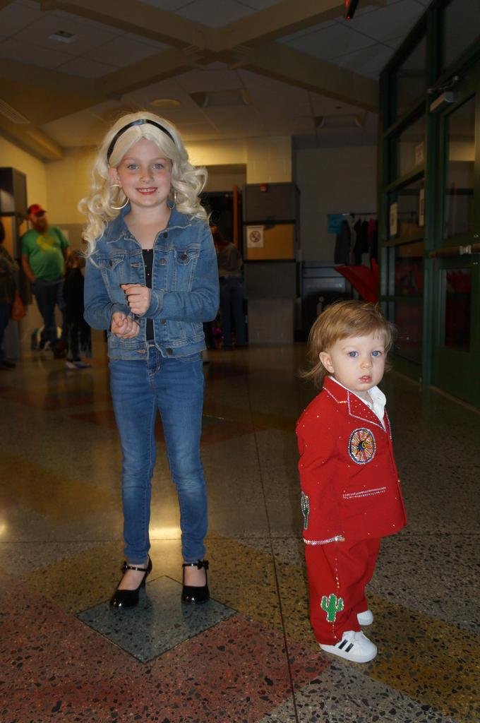 Students in Halloween costumes at Spooktacular event