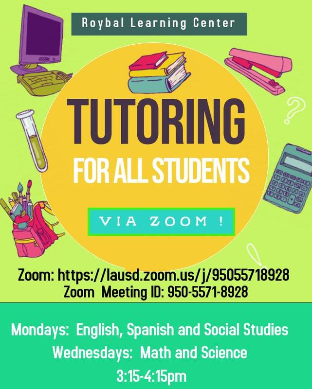 Tutoring Now Available via Zoom! Thumbnail Image