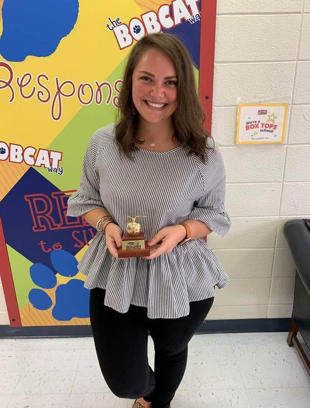 Mrs. Fryer wins Golden Apple