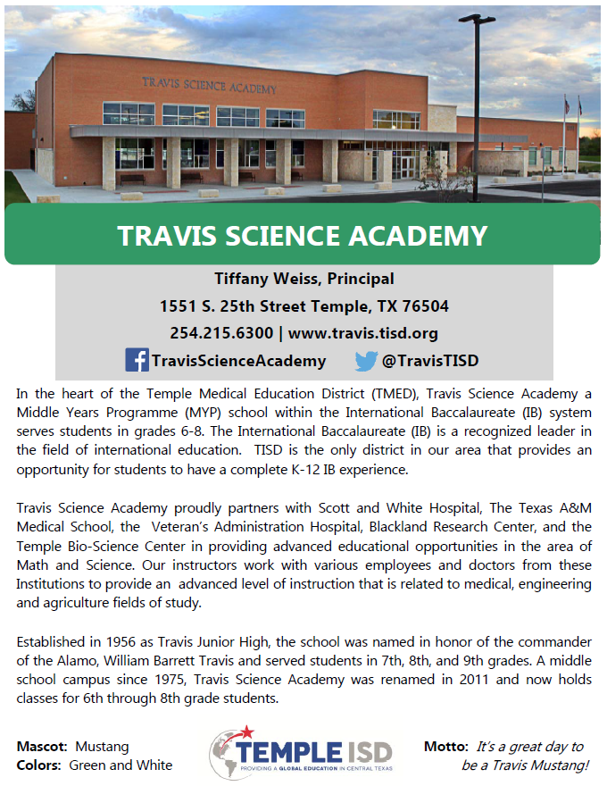 Middle Schools – Campuses – Temple Independent School District