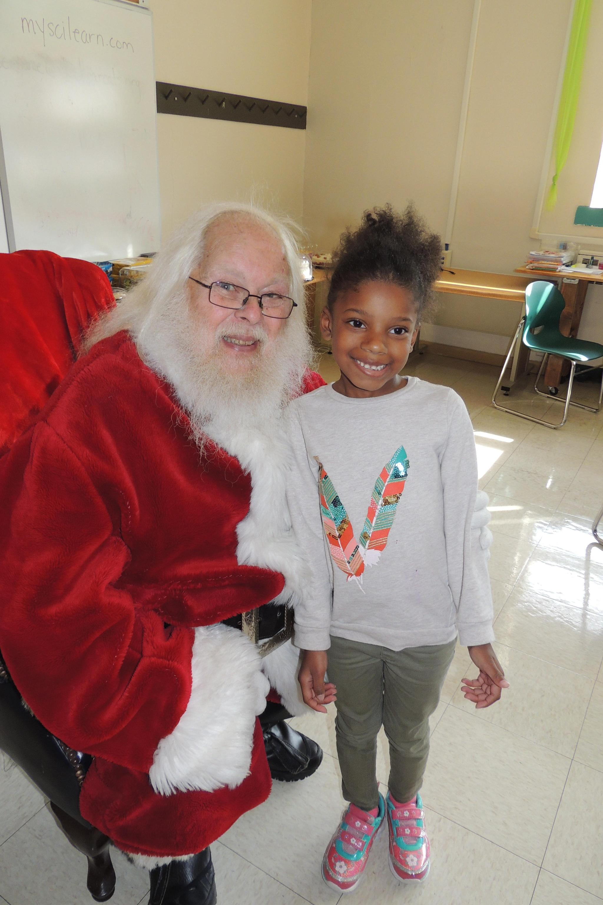 Pre-K pictures with Santa
