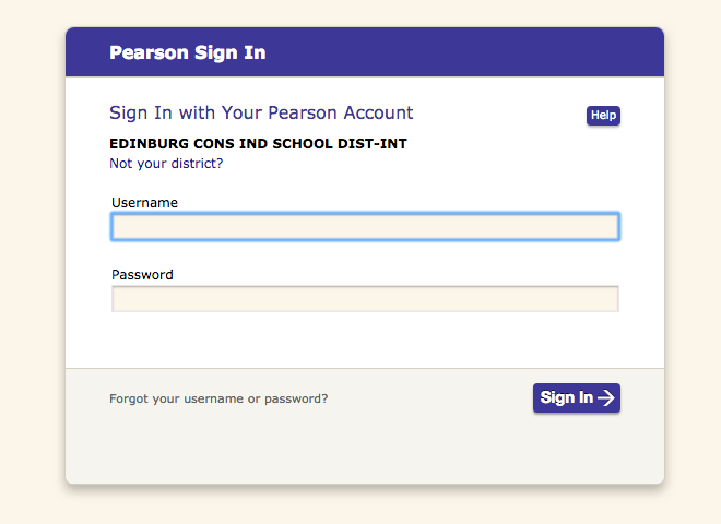 Pearson Sign-In