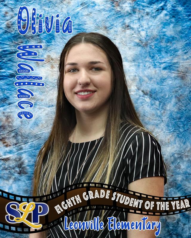 olivia wallace - middle school student of the year