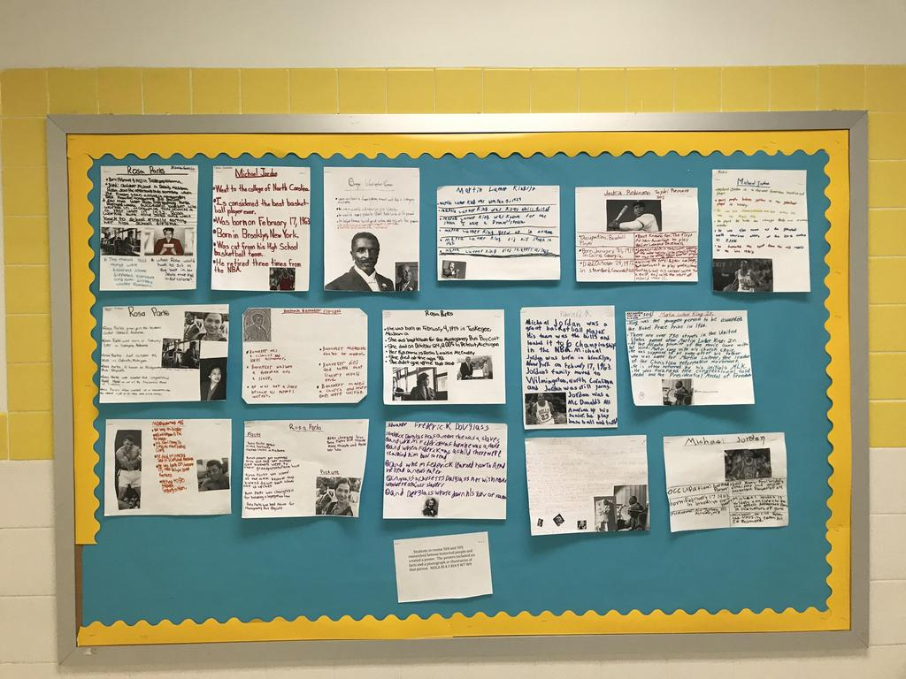 black history month research display