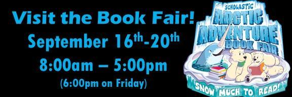 Book fair Sept 16-20 8-5