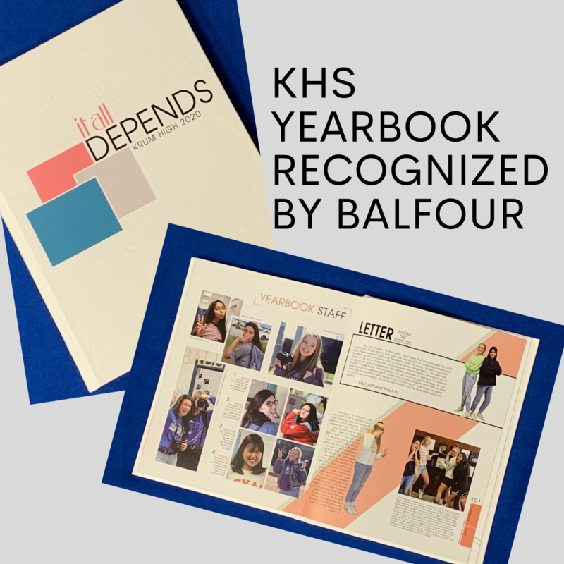 Krum High School Recognized for Yearbook Excellence Featured Photo