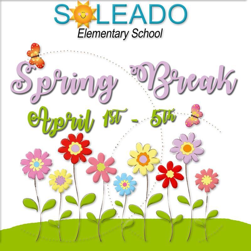 Spring Break April 1st-5th Thumbnail Image
