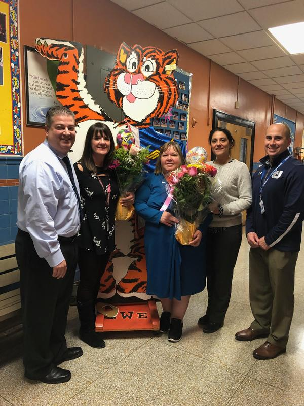 principal rivera, vp ferrante, supervisor mrs. proietto and mrs. kanik