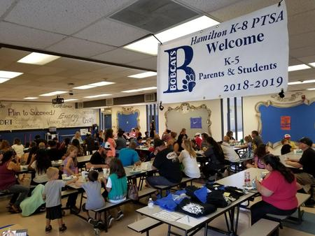 Back to School Night banner by PTSA welcoming parents