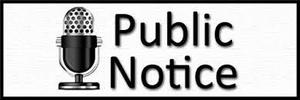 Image of Microphone with the words Public Notice